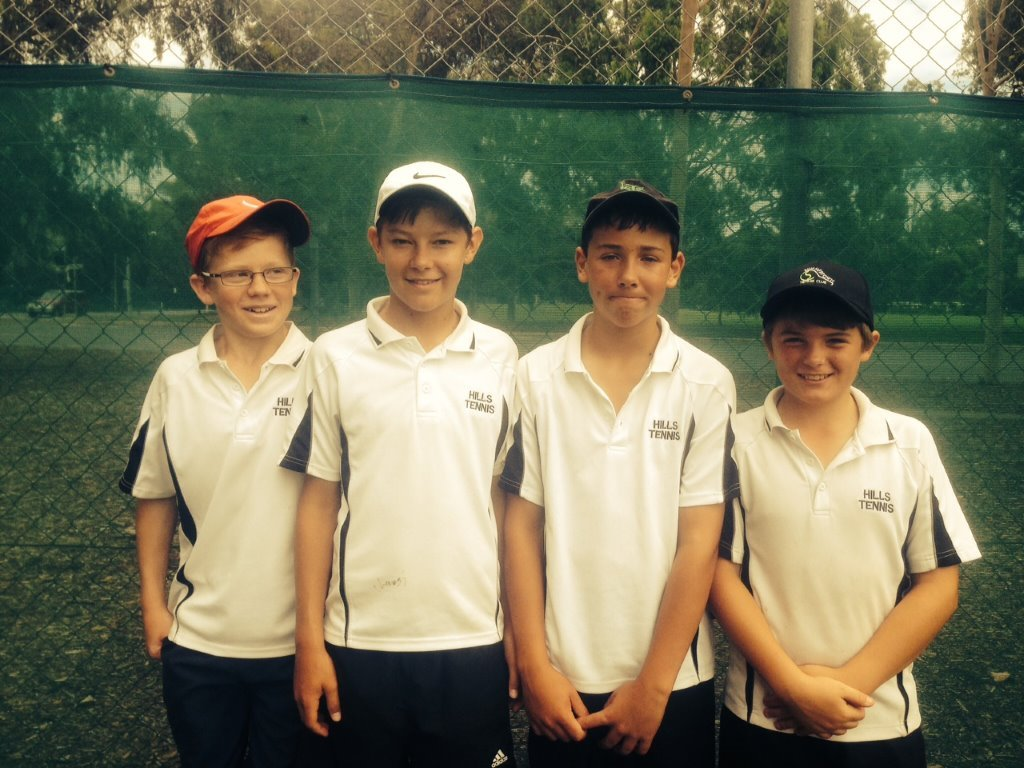 14 and Under Boys winners 2015