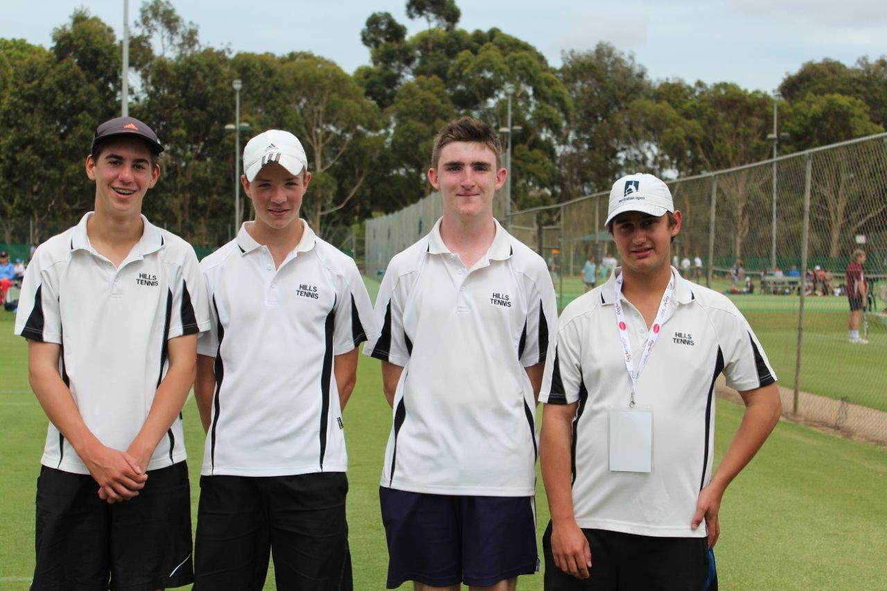 Boys 16 and Under Div 1 Winners Brad Pool, Brandon Wall, Andrew Jarrad, Ryan Hutson