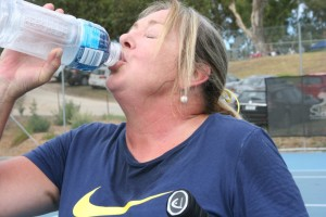 Libby captures how most players were feeling on the day - hot, hot, hot!!