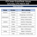 Senior Grand Finals this weekend!