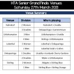 HTA Senior Grand Finals this Weekend!!